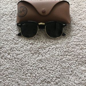 Other - Clubmasters Black/Gold Sunglasses